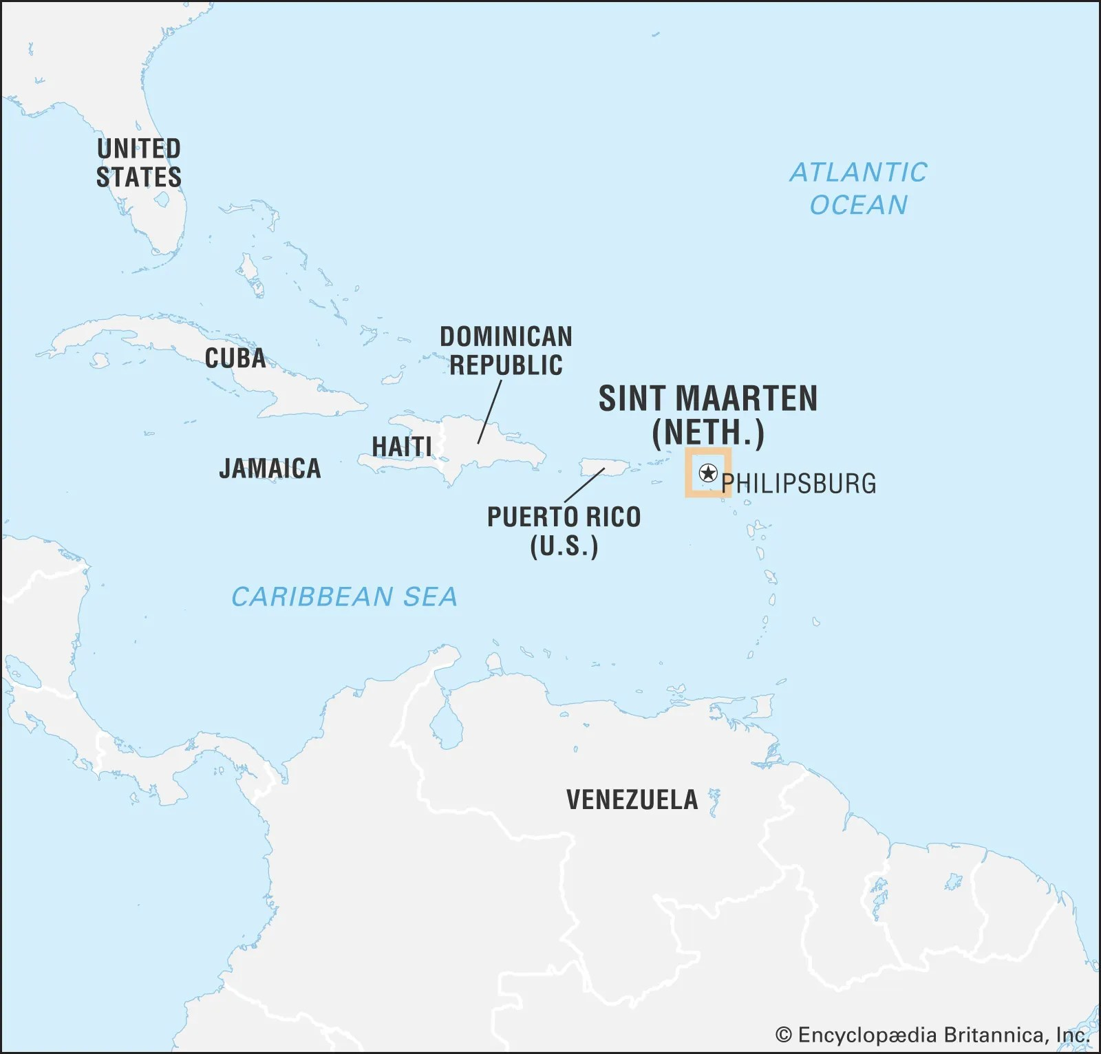 saint martin facts map