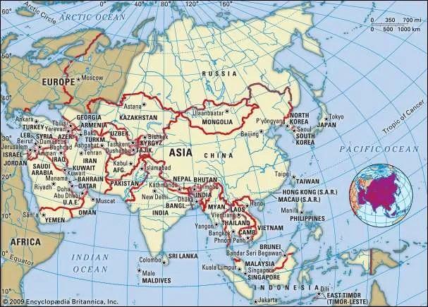 Asia Continent Britannica Com