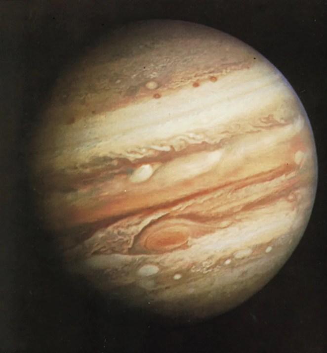 Photograph Jupiter range Voyager 1 cloud bands February 1 1979