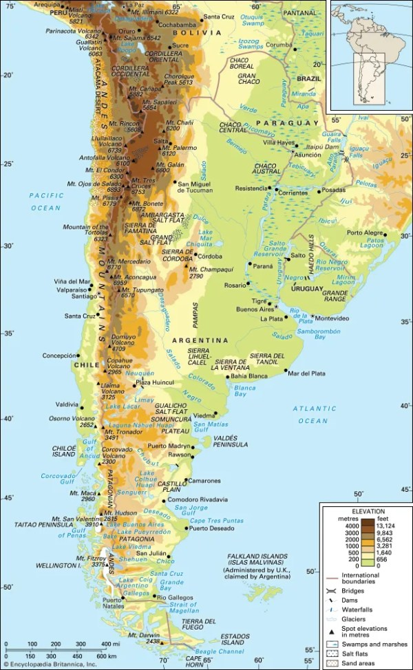Andes Mountains Definition Map Location amp Facts
