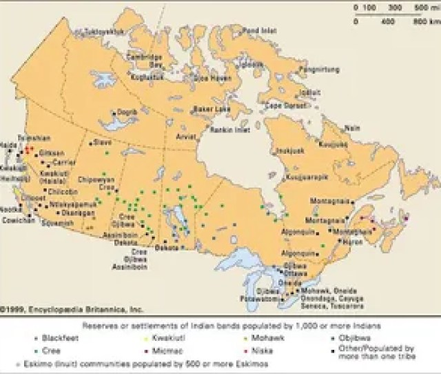 Top Indigenous Communities In Canada And Bottom Reservations In The United States