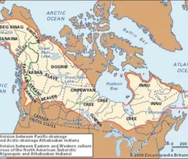 Distribution Of American Subarctic Cultures