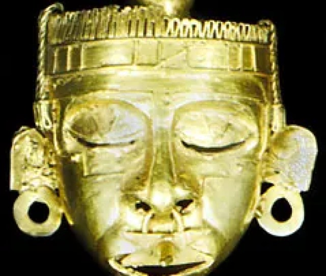 Mask Of Xipe Totec Gold Cast By The Lost Wax Method Mixtec