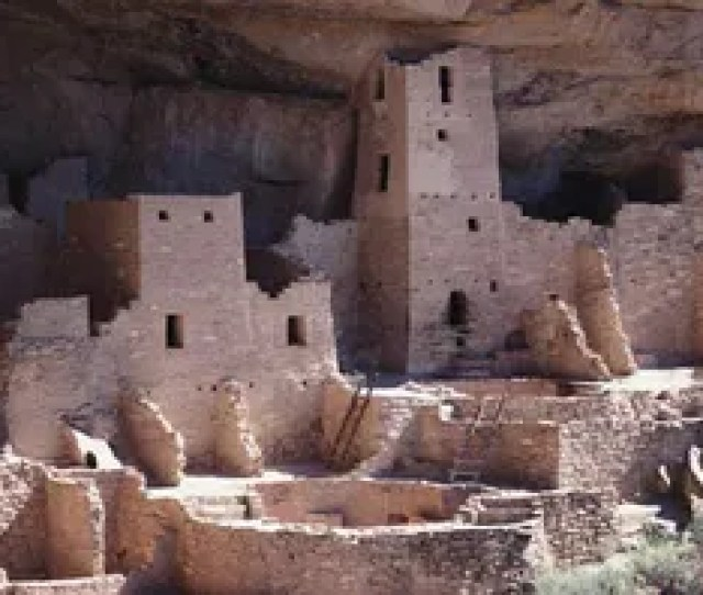 The Cliff Palace Which Has  Kivas And Several Towers