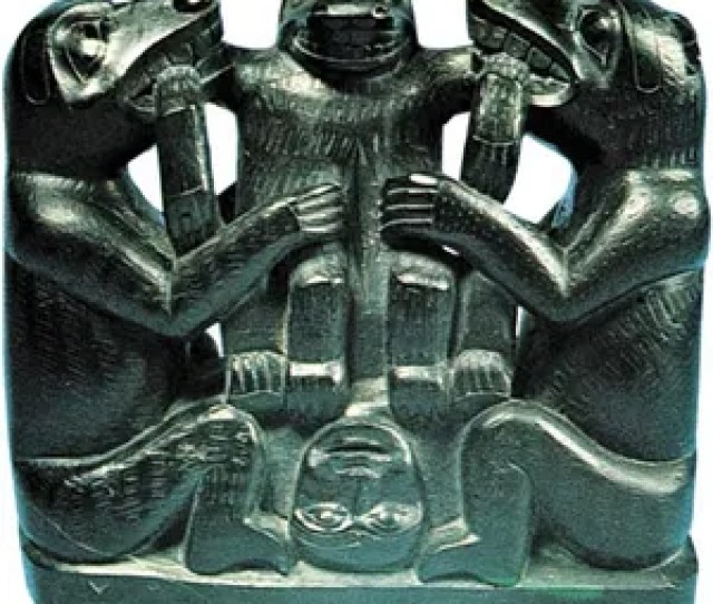 Haida Argillite Carving C  Depicting A Folktale In Which The Bear Mother