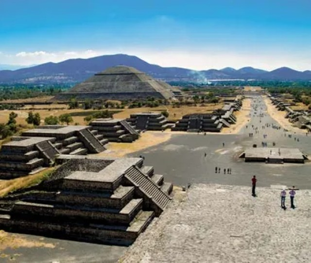 The Remains Of The Ancient City Of Teotihuacan In Mexico Include Pyramids Temples And