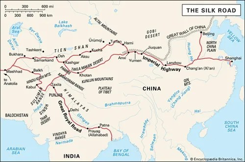 silk road facts history