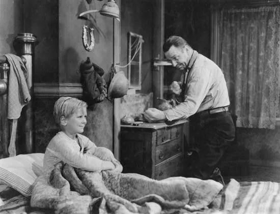 Jackie Cooper (izquierda) y Wallace Beery en The Champ (1931), dirigida por King Vidor.