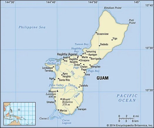 Guam History Geography amp Points of Interest