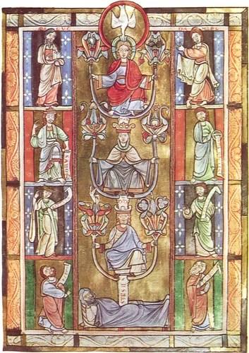 Byzantine illuminated manuscript: Tree of Jesse