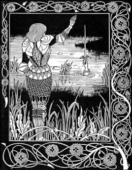 Beardsley, Aubrey: illustration for Le Morte Darthur
