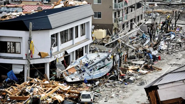 wreckage from Japan earthquake and tsunami of 2011