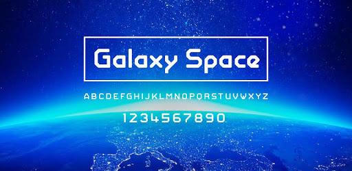 Download Galaxy Space Font Samsung FlipFont,Cool Fonts Free APK ...