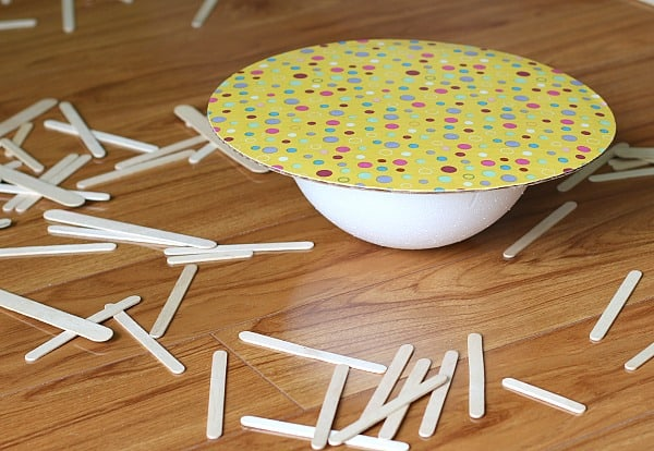 Balancing Activities for Kids Balance the Popsicle Sticks