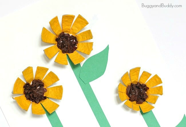 Follow easy craft tutorials, find free printables and coloring pages, and get advice on basic crafting techniques to make fun kids' crafts with the family. Sunflower Egg Carton Craft For Kids Buggy And Buddy
