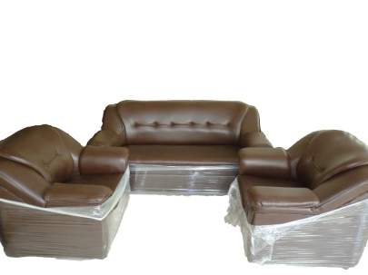cushion sofa set pearson bed buildmantra com with rexine cover 3 1 seater