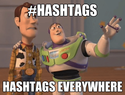 hashtags everywhere