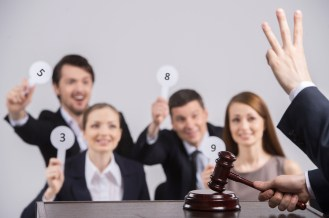 A Words Worth: Contention Sets and New gTLD Auctions image auction shutterstock 176095976