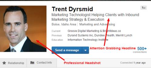 attention grabbing linkedin profile