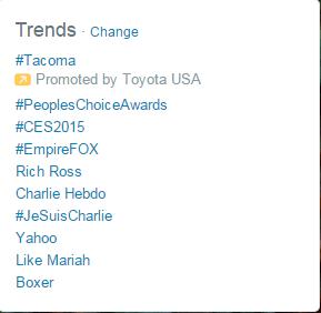 social media marketing plans twitter screenshot of the hashtags trending