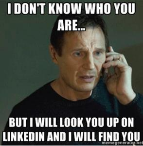 LinkedIn for the first sales meeting