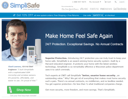 Persuasive landing pages using fear as a hook