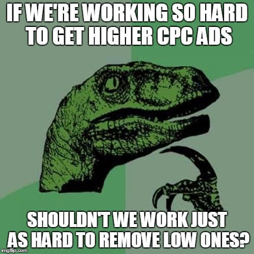 How to avoid low AdSense CPCs