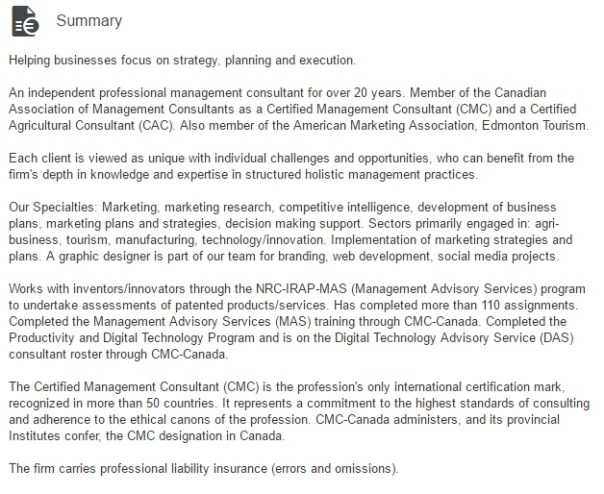 Summary Image - Management Consultant - CMC cert