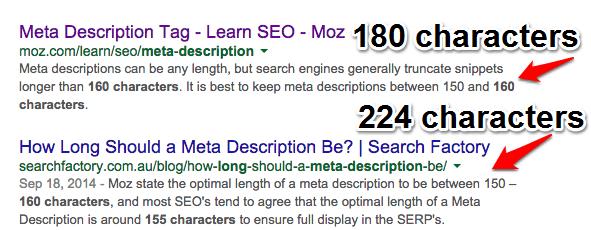 Longer Meta Descriptions