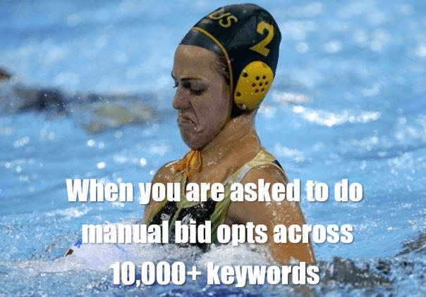 scaling bid optimization in adwords