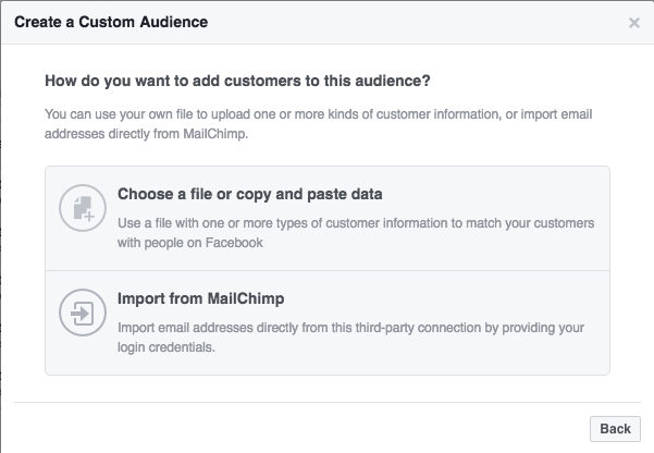 Custom Audiences Facebook 2