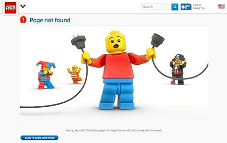 Lego Custom 404 Error Page