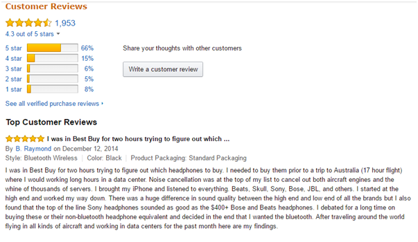Trust Factor - amazon reviews
