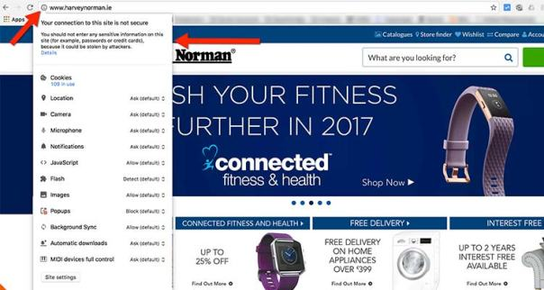 harvey-norman-no-ssl How To Start A Website - The Beginners Guide