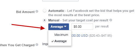How to compete in Facebook Ads bid amount average