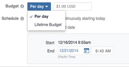 How to compete in Facebook Ads daily budget