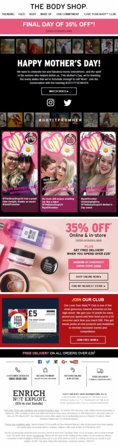 mothers day email template_ the body shop