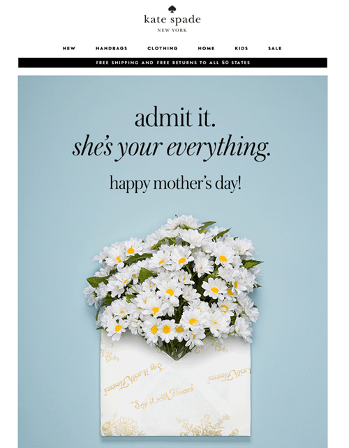 Kate Spade - Mothers Day Email