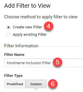 custom analytics filter