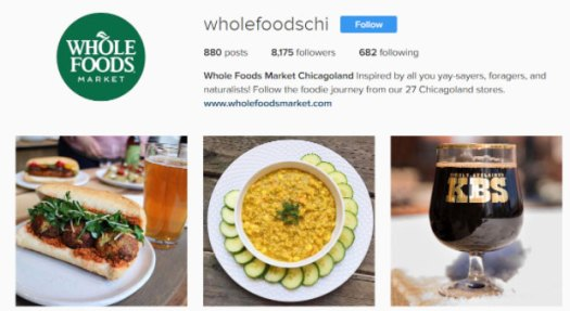 Image from Whole Food's Chicago Instagram page