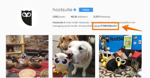 Image from Hootsuite's Instagram page