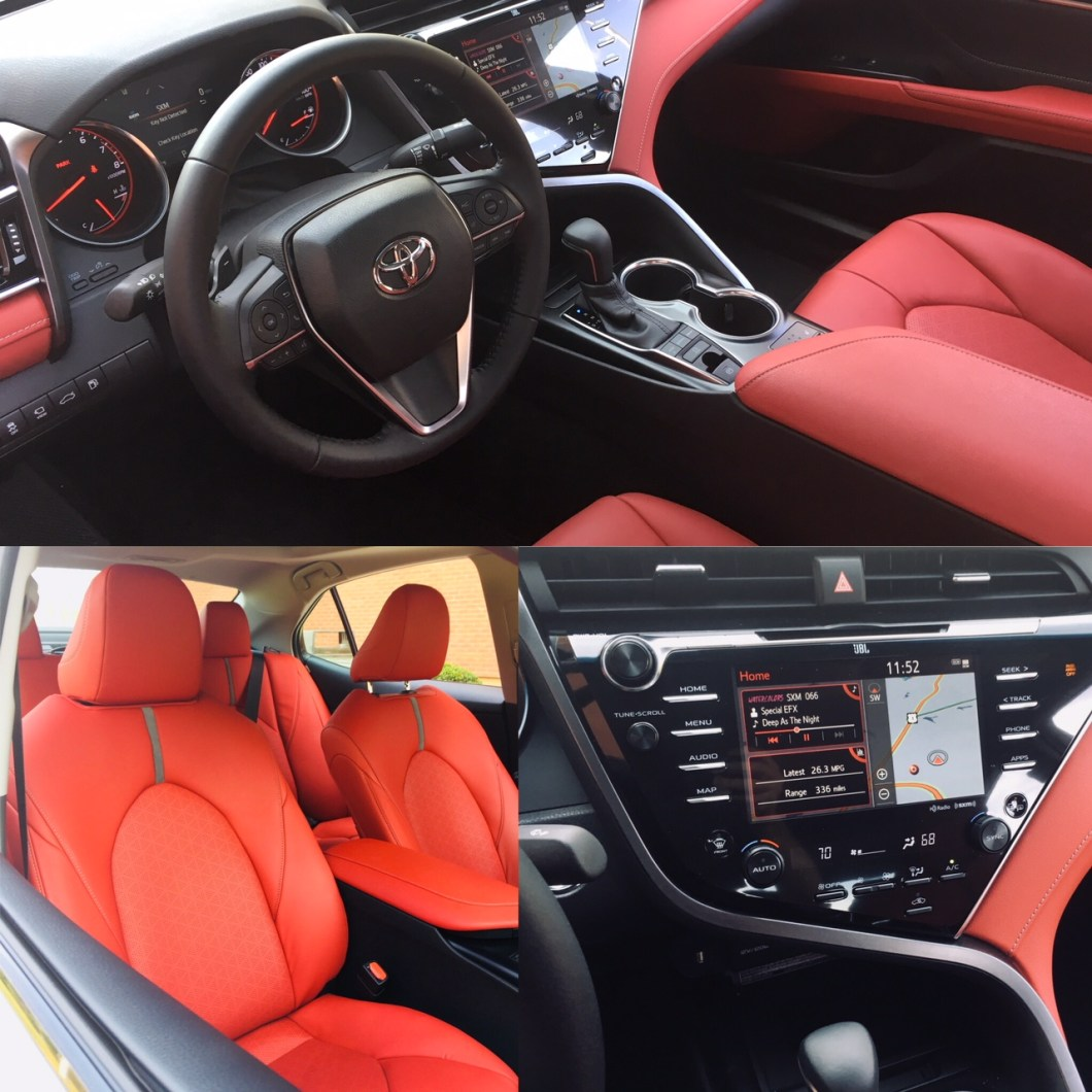 toyota camry xse 2018 red interior. Black Bedroom Furniture Sets. Home Design Ideas