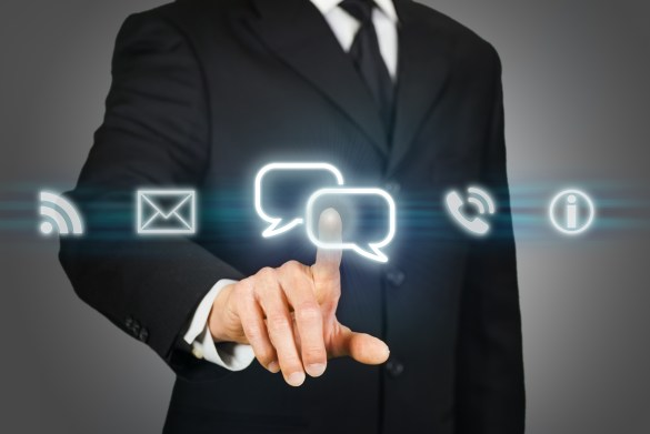 business man selecting a marketing channel
