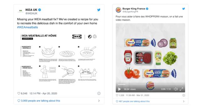 DIY brand tweets