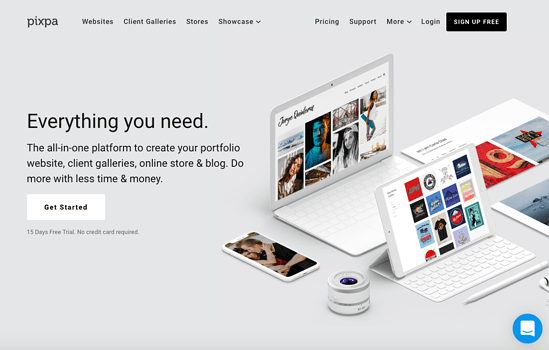Pixpa homepage 2019-1