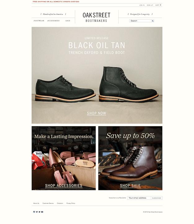 oakstreet-bootmakers-website-design