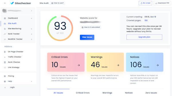 SiteCheckerPro - Audit SEO - Améliorez considérablement votre référencement | Marketing numérique Suvonni