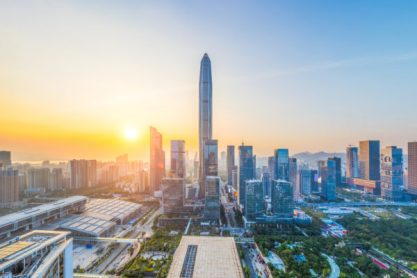 Der Futian-Distrikt in der südchinesischen Stadt Shenzhen.