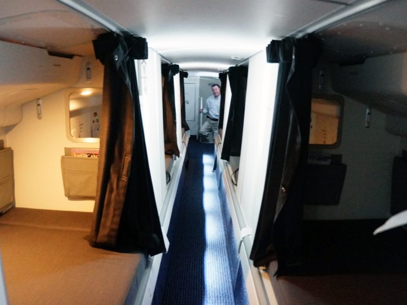 See the secret airplane bedrooms where flight attendants