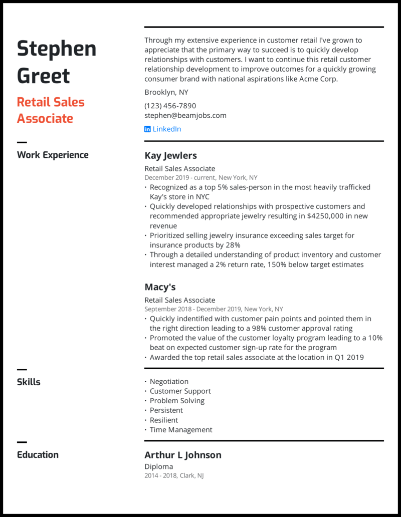 Sales or marketing manager resume template | premium resume samples & example. 5 Sales Resume Examples That Landed Jobs In 2021